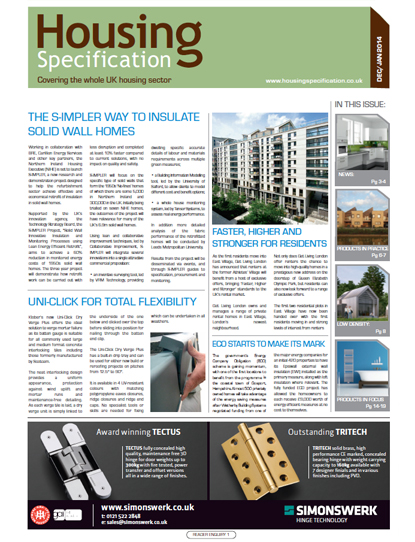 Latest Issue of Housing Specificaiton